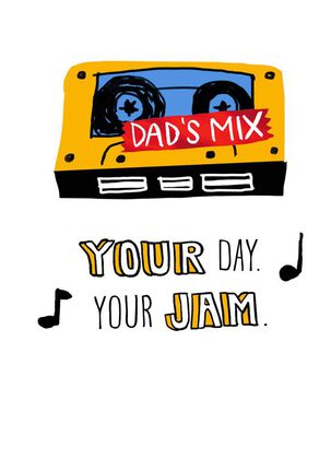 Dad's Mix Tape Father's Day Card