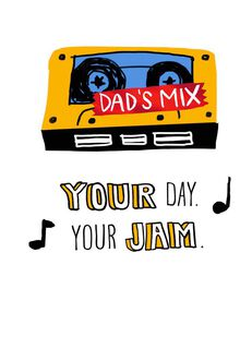 Dad's Mix Tape Father's Day Card,