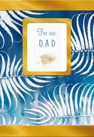 Fern Leaf Batik Print Father's Day Card