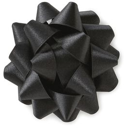 "Black Satin Ribbon Gift Bow, 4 5/8"", , large"