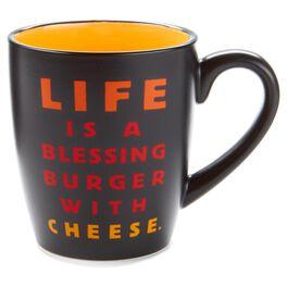 Blessing Burger Ceramic Mug, 14 oz., , large