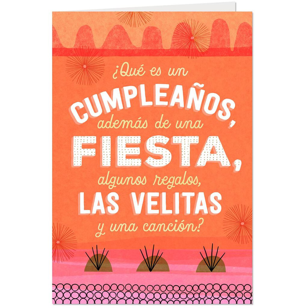 Make A Wish Spanish Language Pop Up Birthday Card