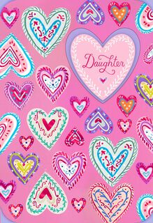 UNICEF Colorful Hearts Valentine's Day Card for Daughter,