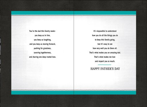 You Keep This Family Running Smoothly Father's Day Card,