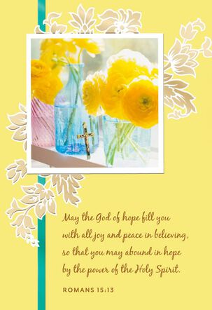 Flowers in the Window Religious Encouragement Card