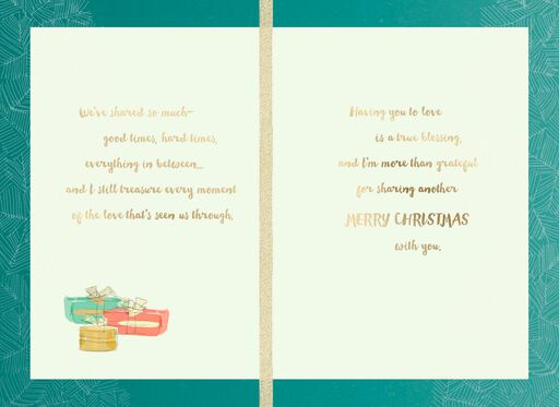Loving Couple Christmas Card,