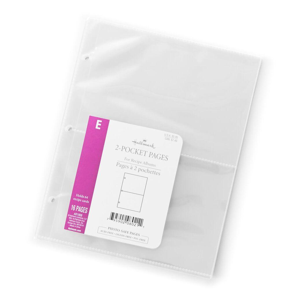 Small 2 Pocket Recipe Album Refill Pages Recipe Organizers Hallmark