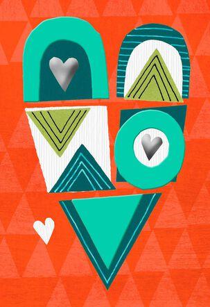 Pop Art Heart Blank Card