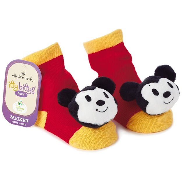 Mickey Mouse Itty Bittys Baby Rattle Socks Baby Clothes Hallmark