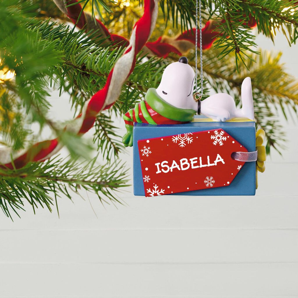 Peanuts® Snoopy Christmas Present Personalized Ornament Peanuts® Snoopy Christmas Present Personalized Ornament ...