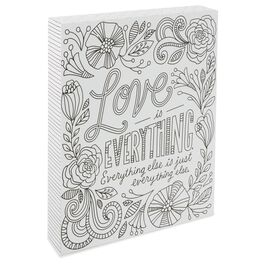 Love Is Everything 8x10 Coloring Plaque, , large