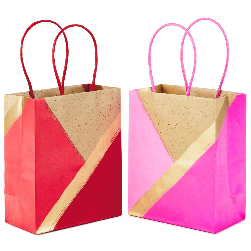 Kraft 2-Pack Small Gift Bags