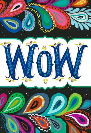 Paisley WOW! Thank You Card