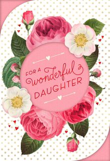 For a Wonderful Daughter Valentine's Day Card,