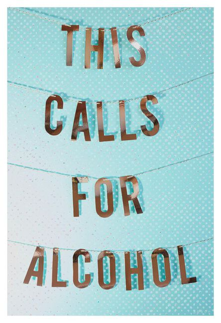 This Calls For Alcohol Funny Congratulations Card