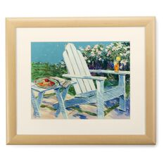 Adirondack Chair 20x24 Print With Matted Frame Framed