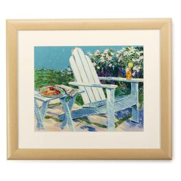 Adirondack Chair 20x24 Print With Matted Frame, , large