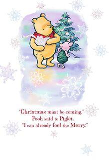 Winnie the Pooh Very Merriest Christmas Card,