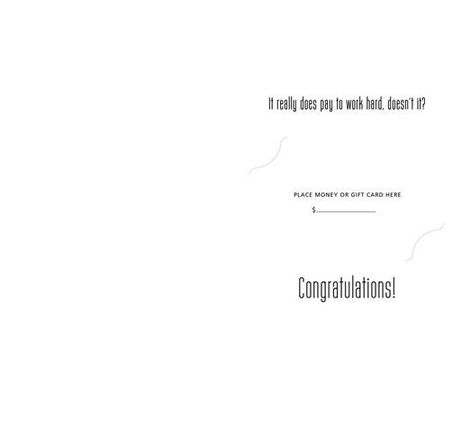 It Pays to Work Hard Graduation Cards, Pack of 10,