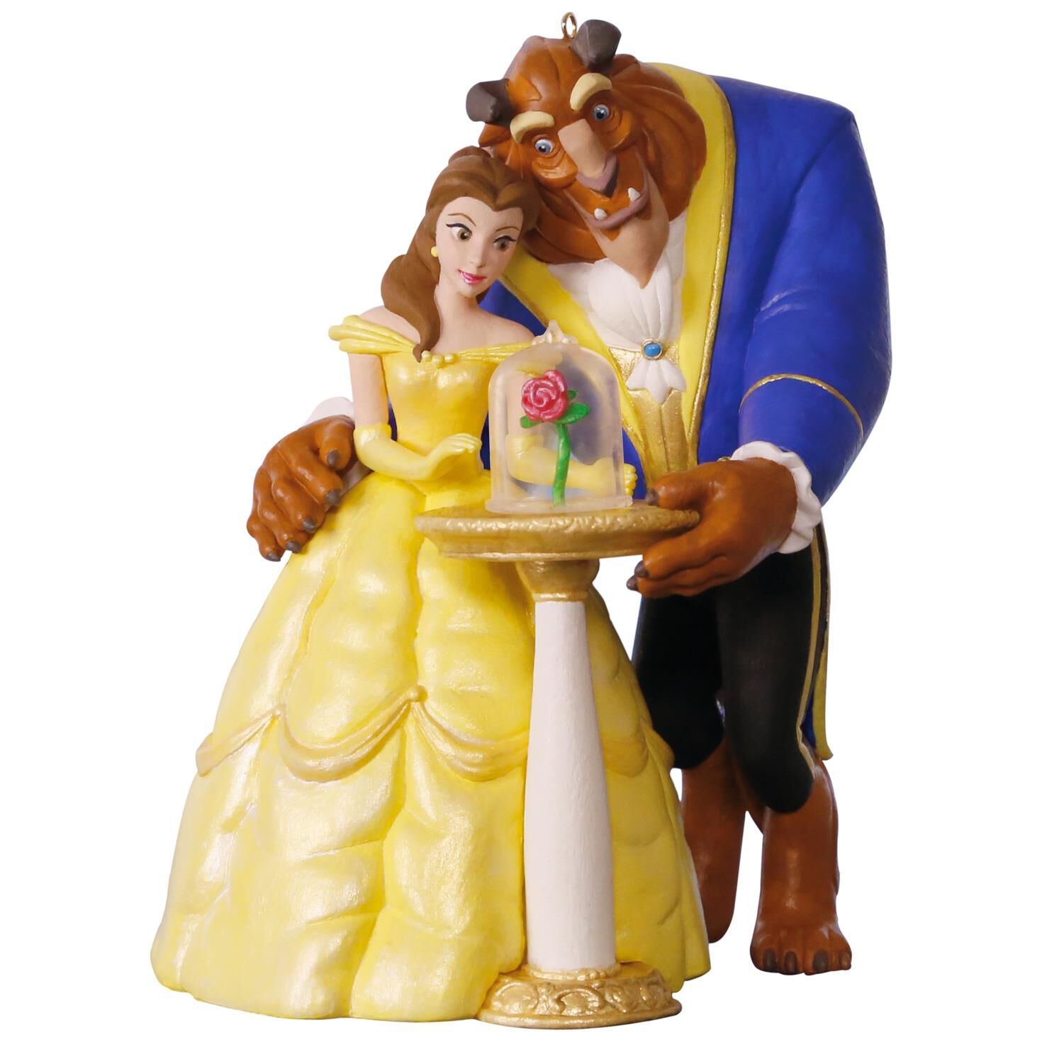 Belle ornament disney - Disney Beauty And The Beast Tale As Old As Time Ornament With Light And Music Keepsake Ornaments Hallmark