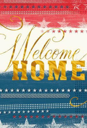 Patriotic Welcome Home Card
