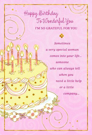 Yellow Cake and Candles Birthday Card