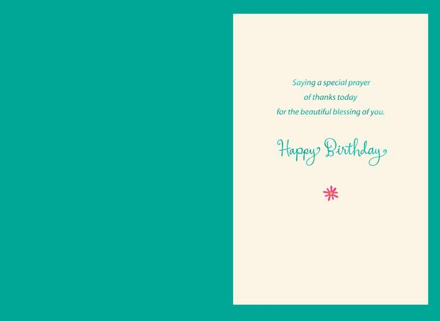 Youre A Beautiful Blessing Birthday Card For Goddaughter