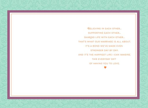 Our Love Is a Precious Gift Anniversary Card,