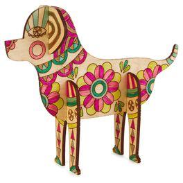 Dog Coloring Wooden Art Kit, , large