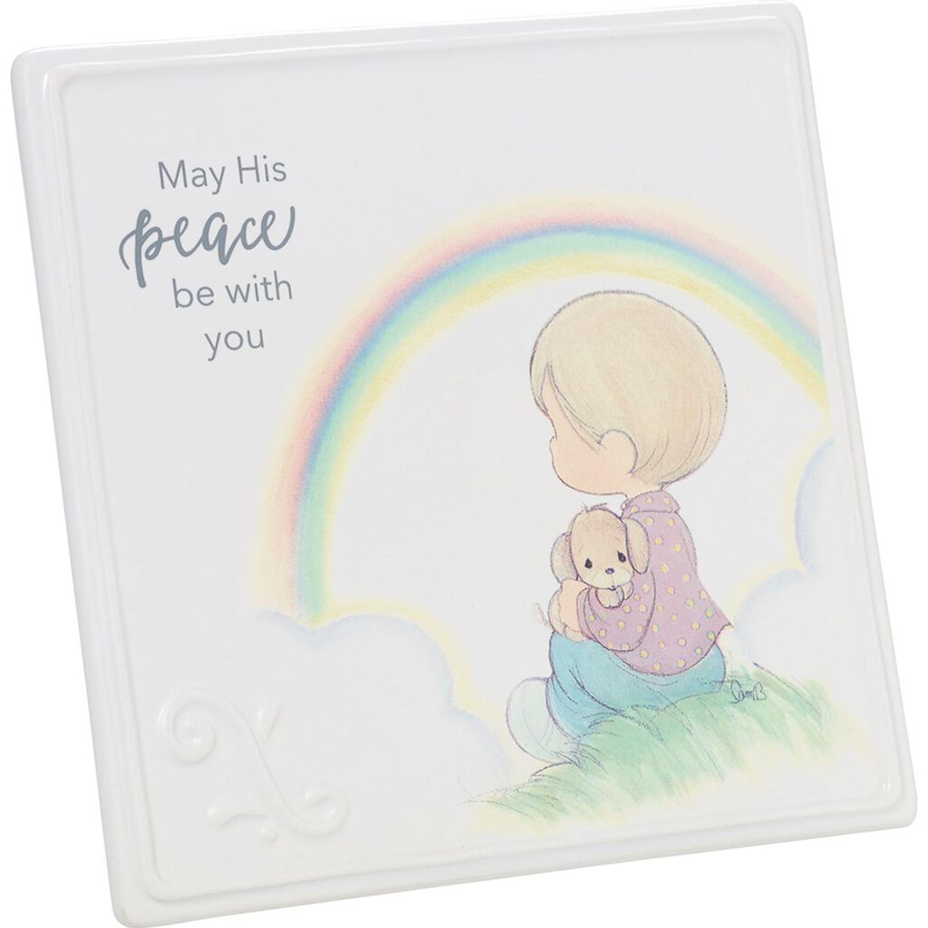 Precious Moments May His Peace Be With You Ceramic Quote Sign