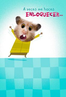 Crazy Hamster Spanish-Language Love Card,