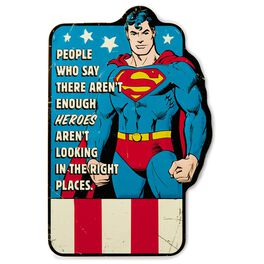 SUPERMAN™ Embossed Metal Sign, , large
