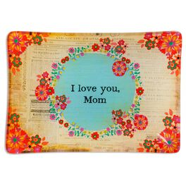 Natural Life Glass Tray Love You Mom, , large