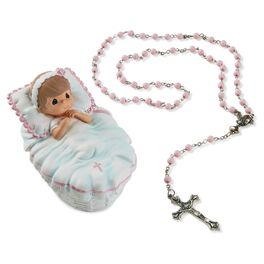Precious Moments® Baptism Girl Box with Pink Rosary, , large