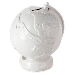 Ceramic Globe Money Bank, , large
