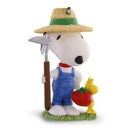 Green Thumb Snoopy Gardening Ornament, , large