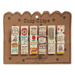Natural Life Kitchen Rules Chip Clips—Set of 6, , large