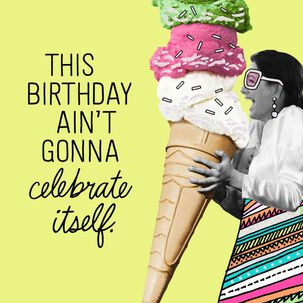Super-Sized Ice Cream Cone Birthday Card