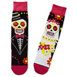 Day of the Dead Sugar Skull Toe of a Kind Socks, , large