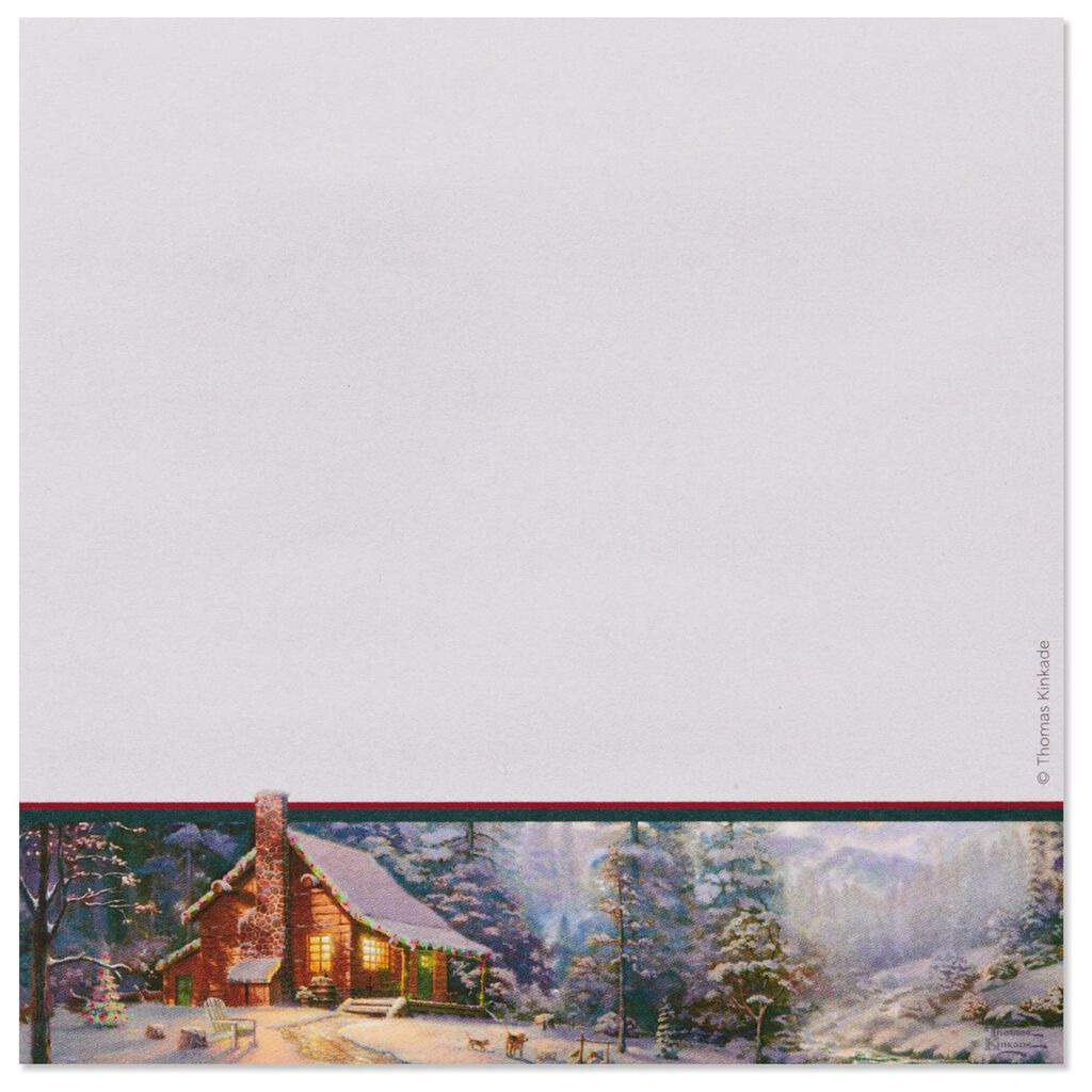 Thomas Kinkade Christmas Memo Pads And Pen Set