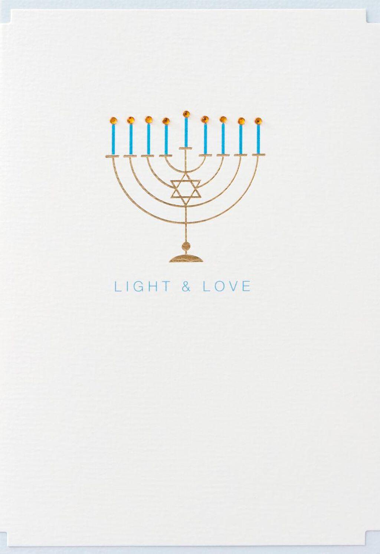 Light And Love Hanukkah Card Greeting Cards Hallmark Menorah Lighting Diagram