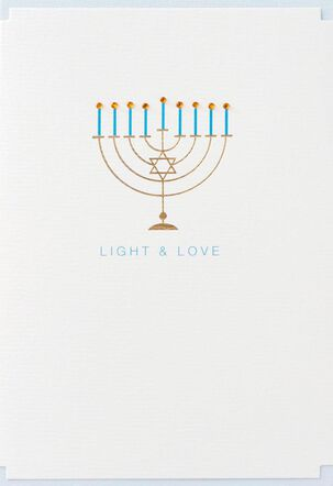 Light and Love Hanukkah Card