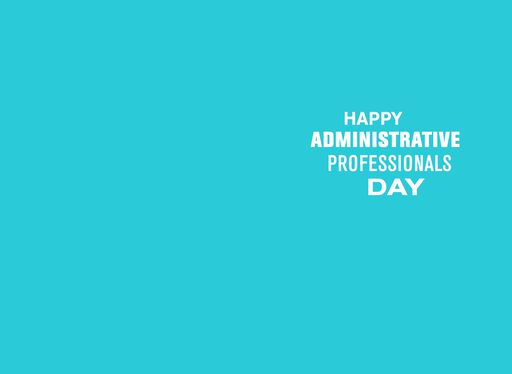 Thank You Administrative Professionals Day Card,
