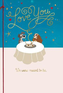 Lady and the Tramp Meant to Be Valentine's Day Card,