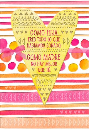Couldn't Be Prouder Spanish-Language Mother's Day Card for Daughter