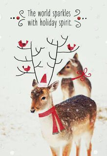 Holiday Spirit Christmas Card,