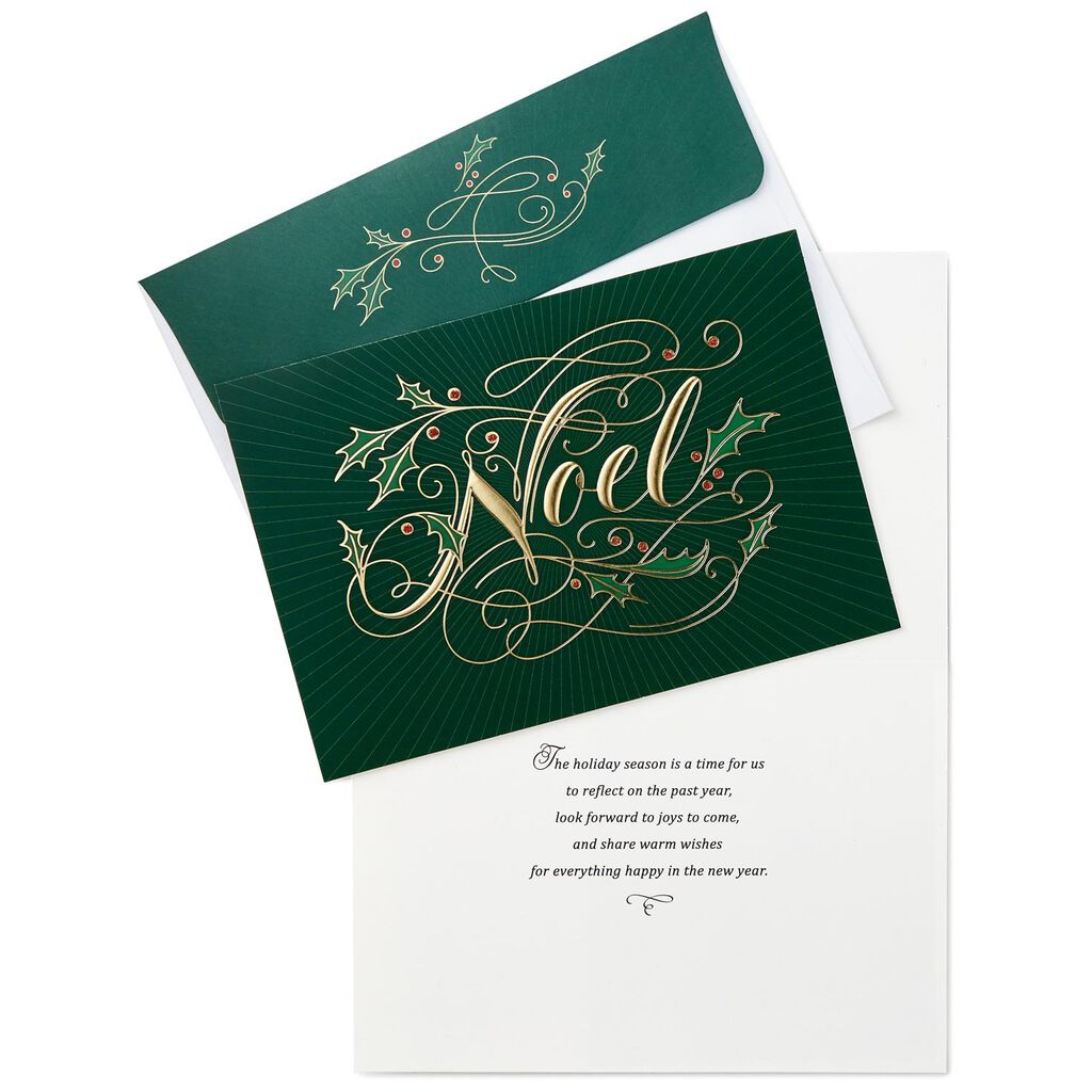 Gold Foil Noel Christmas Cards, Box of 16 - Boxed Cards - Hallmark