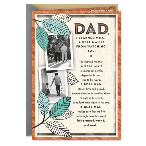 A Real Man Fathers Day Card From