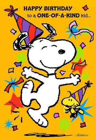 PeanutsR Snoopy And Woodstock Best Kind Of Kid Birthday Card