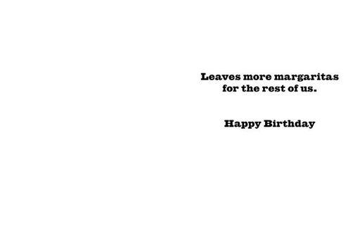 Triathlon or Try-A-Margarita Funny Birthday Card,